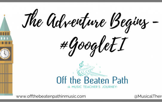 The Adventure Begins - #GoogleEI