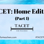 TACET Home Edition (Part 1)