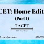 TACET Home Edition (Part 1)