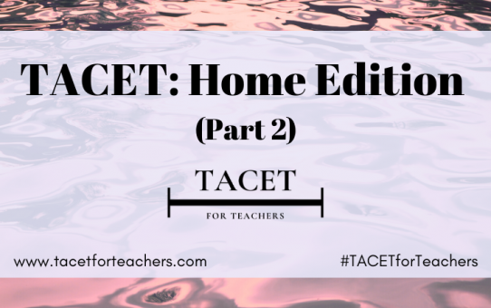 TACET: Home Edition (Part 2)